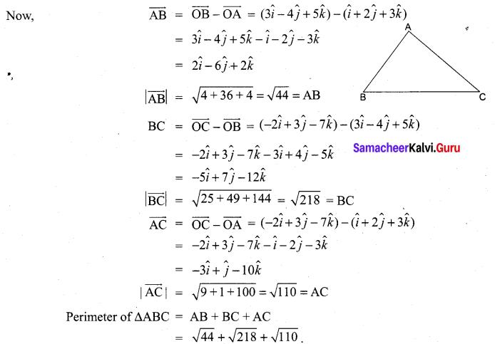 Samacheer Kalvi 11th Maths Solutions Chapter 8 Vector Algebra - I Ex 8.2 27