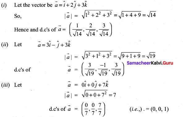 Samacheer Kalvi 11th Maths Solutions Chapter 8 Vector Algebra - I Ex 8.2 3