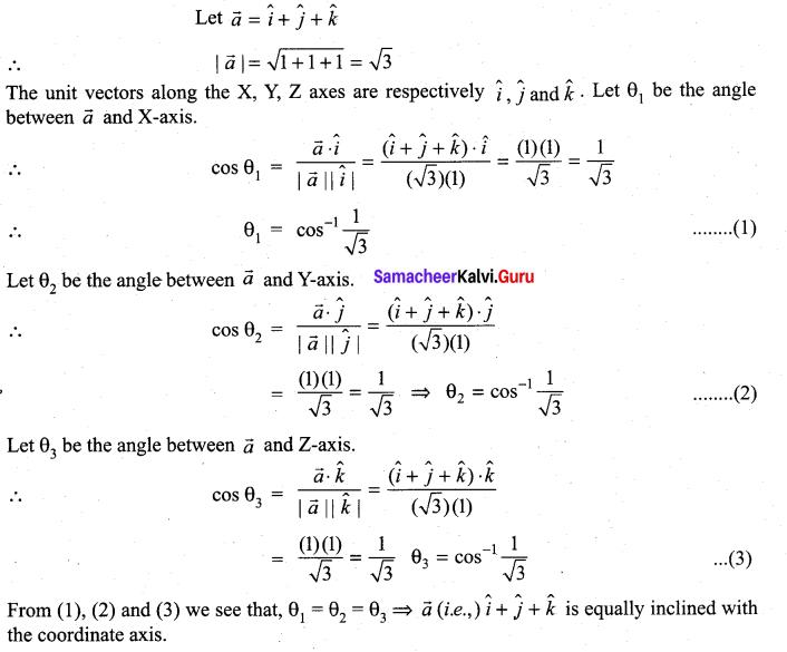 Samacheer Kalvi 11th Maths Solutions Chapter 8 Vector Algebra - I Ex 8.3 35