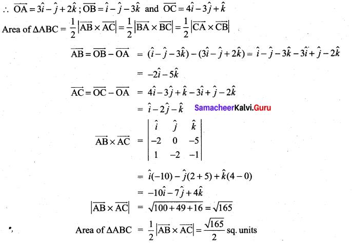 Samacheer Kalvi 11th Maths Solutions Chapter 8 Vector Algebra - I Ex 8.4 10