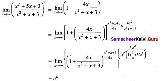 Samacheer Kalvi 11th Maths Solutions Chapter 9 Limits and Continuity Ex 9.6 10