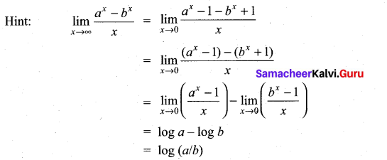 Samacheer Kalvi 11th Maths Solutions Chapter 9 Limits and Continuity Ex 9.6 14