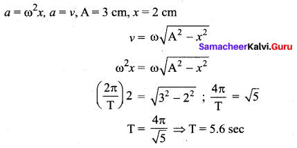 Samacheer Kalvi 11th Physics Solutions Chapter 10 Oscillations 147