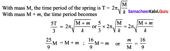 Samacheer Kalvi 11th Physics Solutions Chapter 10 Oscillations 156