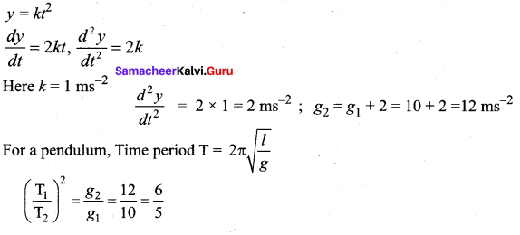 Samacheer Kalvi 11th Physics Solutions Chapter 10 Oscillations 16