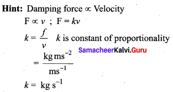 Samacheer Kalvi 11th Physics Solutions Chapter 10 Oscillations 42