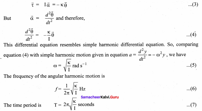 Samacheer Kalvi 11th Physics Solutions Chapter 10 Oscillations 65