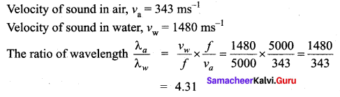 Samacheer Kalvi 11th Physics Solutions Chapter 11 Waves 5