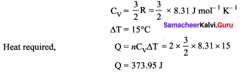 Samacheer Kalvi 11th Physics Solutions Chapter 9 Kinetic Theory of Gases 107