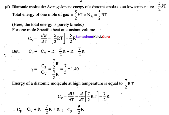 Samacheer Kalvi 11th Physics Solutions Chapter 9 Kinetic Theory of Gases 43