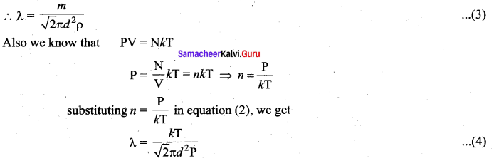 Samacheer Kalvi 11th Physics Solutions Chapter 9 Kinetic Theory of Gases 46