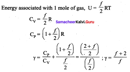 Samacheer Kalvi 11th Physics Solutions Chapter 9 Kinetic Theory of Gases 78