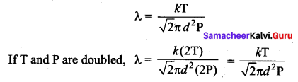 Samacheer Kalvi 11th Physics Solutions Chapter 9 Kinetic Theory of Gases 8
