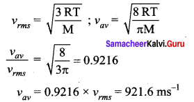 Samacheer Kalvi 11th Physics Solutions Chapter 9 Kinetic Theory of Gases 93
