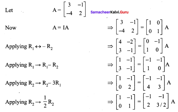 Samacheer Kalvi 12th Maths Solutions Chapter 1 Applications of Matrices and Determinants Ex 1.1 245
