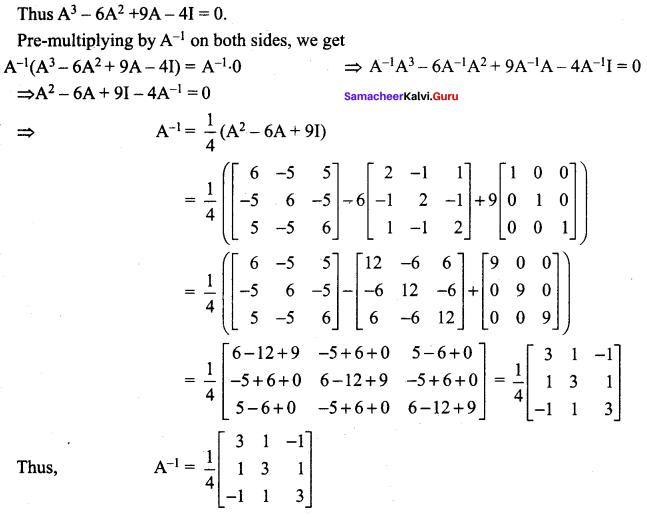 Samacheer Kalvi 12th Maths Solutions Chapter 1 Applications of Matrices and Determinants Ex 1.1 26