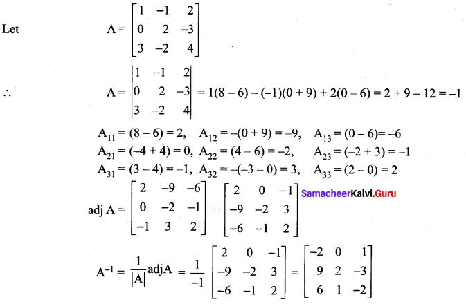 Samacheer Kalvi 12th Maths Solutions Chapter 1 Applications of Matrices and Determinants Ex 1.1 29