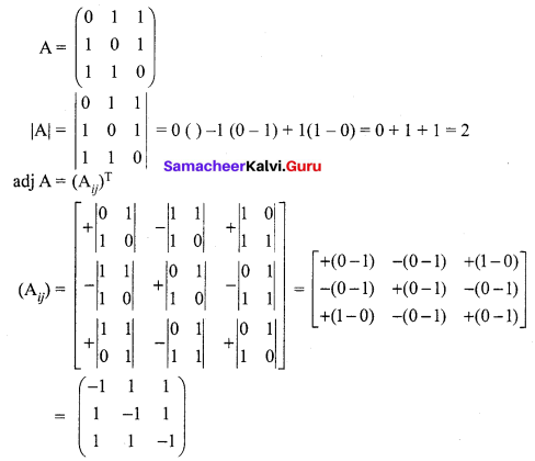 Samacheer Kalvi 12th Maths Solutions Chapter 1 Applications of Matrices and Determinants Ex 1.1 Q14.1