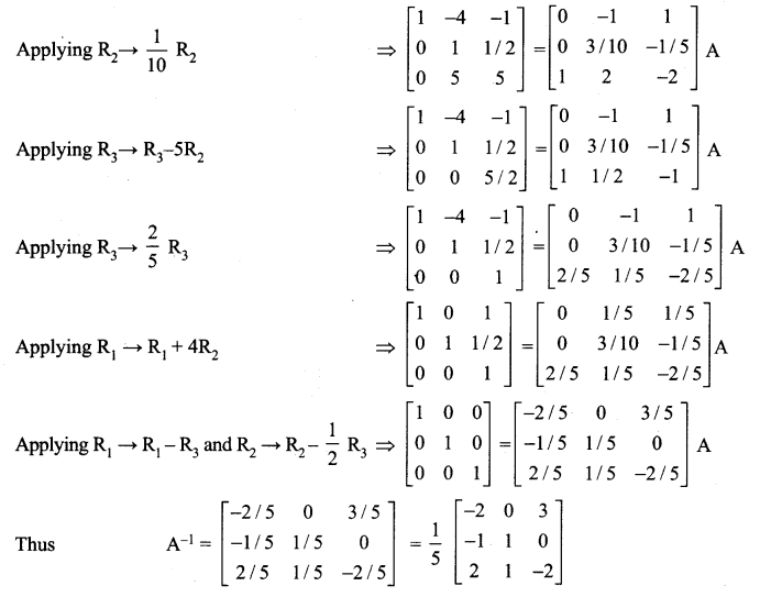 Samacheer Kalvi 12th Maths Solutions Chapter 1 Applications of Matrices and Determinants Ex 1.2 12