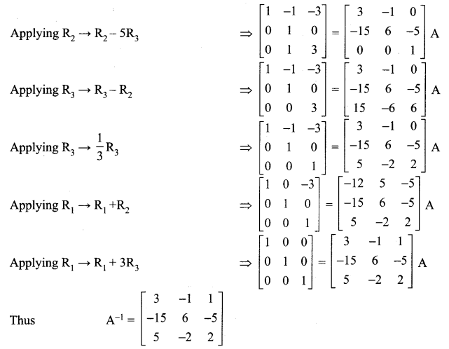 Samacheer Kalvi 12th Maths Solutions Chapter 1 Applications of Matrices and Determinants Ex 1.2 16