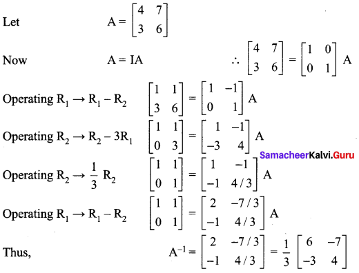 Samacheer Kalvi 12th Maths Solutions Chapter 1 Applications of Matrices and Determinants Ex 1.2 77