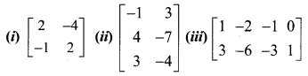 Samacheer Kalvi 12th Maths Solutions Chapter 1 Applications of Matrices and Determinants Ex 1.2 Q1