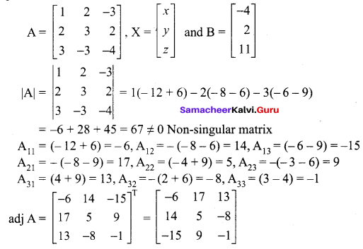 Samacheer Kalvi 12th Maths Solutions Chapter 1 Applications of Matrices and Determinants Ex 1.3 4
