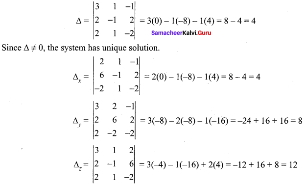 Samacheer Kalvi 12th Maths Solutions Chapter 1 Applications of Matrices and Determinants Ex 1.4 5