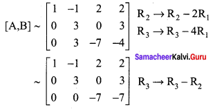 Samacheer Kalvi 12th Maths Solutions Chapter 1 Applications of Matrices and Determinants Ex 1.6 Q1.1