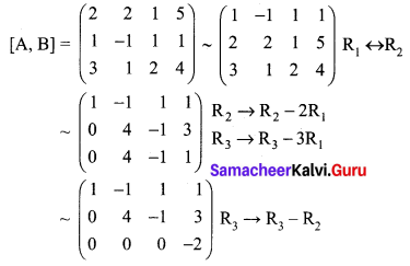 Samacheer Kalvi 12th Maths Solutions Chapter 1 Applications of Matrices and Determinants Ex 1.6 Q1.5