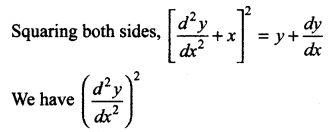 Samacheer Kalvi 12th Maths Solutions Chapter 10 Ordinary Differential Equations Ex 10.1 26