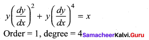 Samacheer Kalvi 12th Maths Solutions Chapter 10 Ordinary Differential Equations Ex 10.1 9