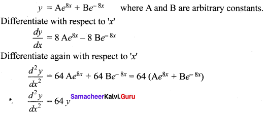 Samacheer Kalvi 12th Maths Solutions Chapter 10 Ordinary Differential Equations Ex 10.3 11