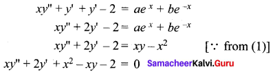Samacheer Kalvi 12th Maths Solutions Chapter 10 Ordinary Differential Equations Ex 10.3 12