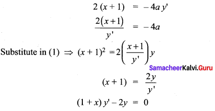 Samacheer Kalvi 12th Maths Solutions Chapter 10 Ordinary Differential Equations Ex 10.3 7