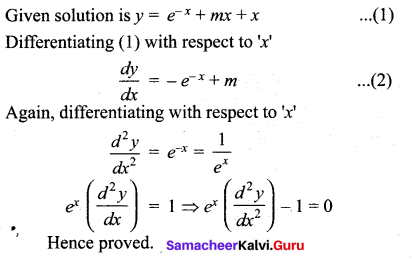 Samacheer Kalvi 12th Maths Solutions Chapter 10 Ordinary Differential Equations Ex 10.4 6