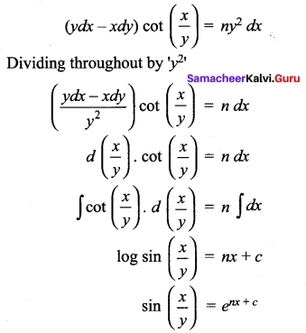 Samacheer Kalvi 12th Maths Solutions Chapter 10 Ordinary Differential Equations Ex 10.5 17