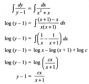Samacheer Kalvi 12th Maths Solutions Chapter 10 Ordinary Differential Equations Ex 10.5 6