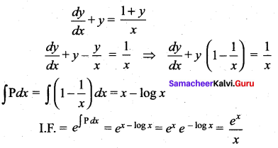 Samacheer Kalvi 12th Maths Solutions Chapter 10 Ordinary Differential Equations Ex 10.9 14