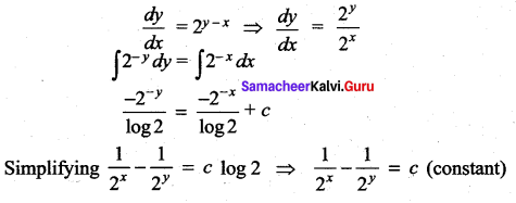 Samacheer Kalvi 12th Maths Solutions Chapter 10 Ordinary Differential Equations Ex 10.9 25