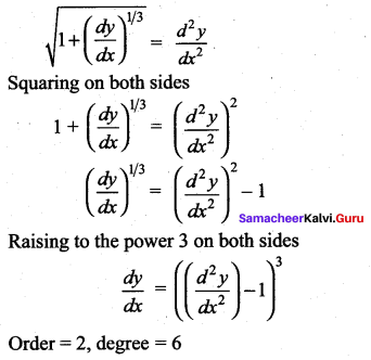 Samacheer Kalvi 12th Maths Solutions Chapter 10 Ordinary Differential Equations Ex 10.9 512