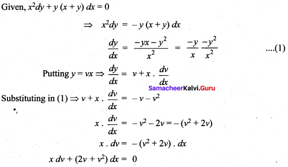 Samacheer Kalvi 12th Maths Solutions Chapter 10 Ordinary Differential Equations Ex 10.9 57