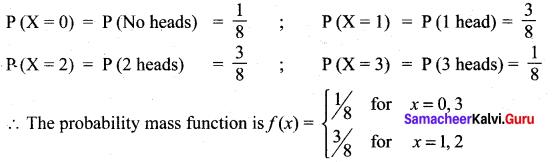 Samacheer Kalvi 12th Maths Solutions Chapter 11 Probability Distributions Ex 11.2 1