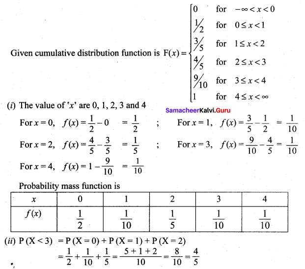Samacheer Kalvi 12th Maths Solutions Chapter 11 Probability Distributions Ex 11.2 19