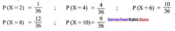 Samacheer Kalvi 12th Maths Solutions Chapter 11 Probability Distributions Ex 11.2 2
