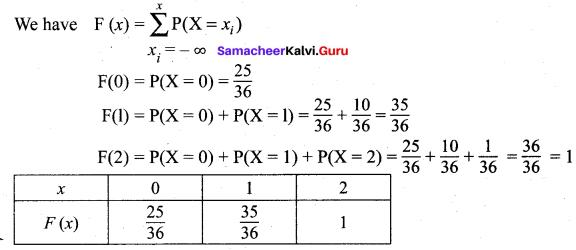 Samacheer Kalvi 12th Maths Solutions Chapter 11 Probability Distributions Ex 11.2 22