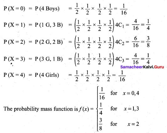 Samacheer Kalvi 12th Maths Solutions Chapter 11 Probability Distributions Ex 11.2 7
