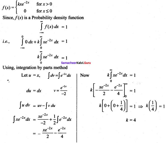 Samacheer Kalvi 12th Maths Solutions Chapter 11 Probability Distributions Ex 11.3 1