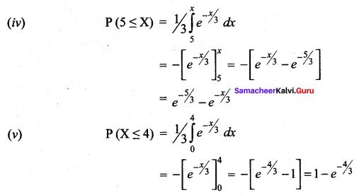 Samacheer Kalvi 12th Maths Solutions Chapter 11 Probability Distributions Ex 11.3 12