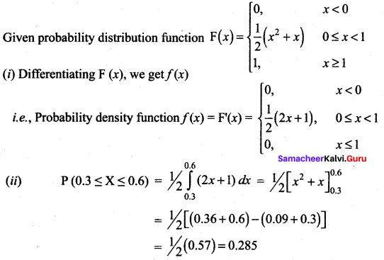 Samacheer Kalvi 12th Maths Solutions Chapter 11 Probability Distributions Ex 11.3 18